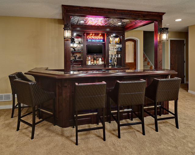 Best Minnetrista Basement Traditional Home Bar This Month