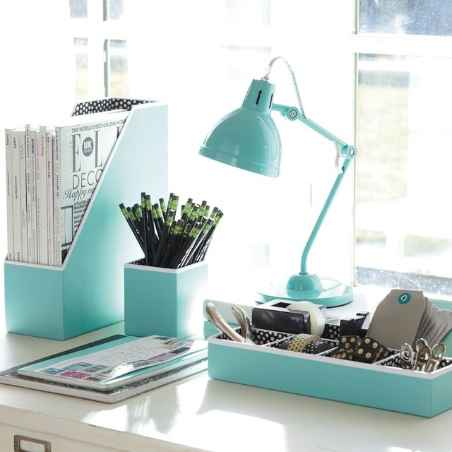 Best Preppy Paper Desk Accessories Solid Pool Contemporary This Month