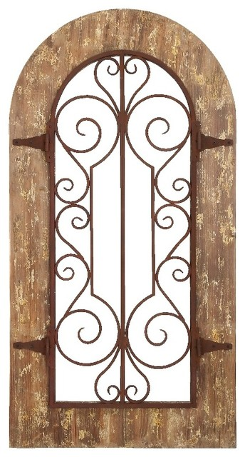 Best Arch Shape Wood Metal Wall Panel Stately Includes Scroll This Month