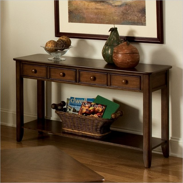 Best Standard Furniture Hialeah Court Sofa Table In Rich Cherry This Month