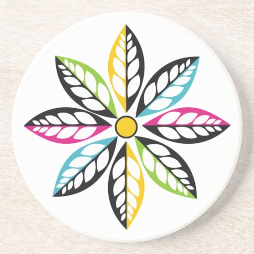 Best Decorative Leaves Flower Modern Abstract Drink Coaster This Month