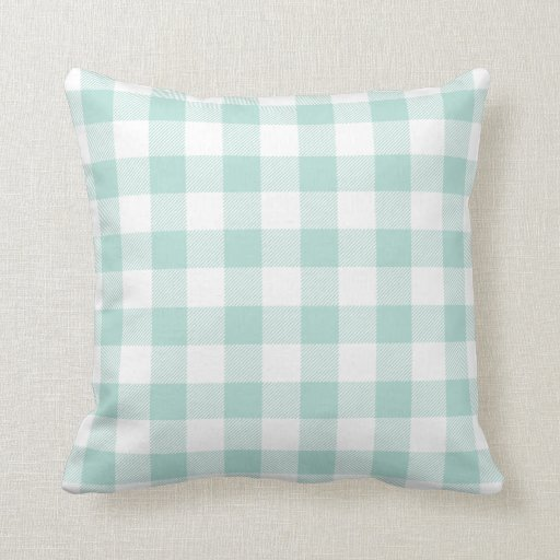 Best Mint Preppy Buffalo Check Plaid Throw Pillow Zazzle This Month