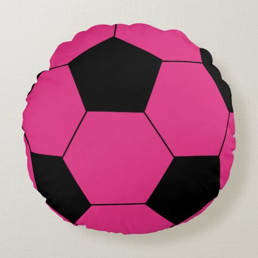 Best Pink Soccer Ball Round Throw Pillow Zazzle This Month