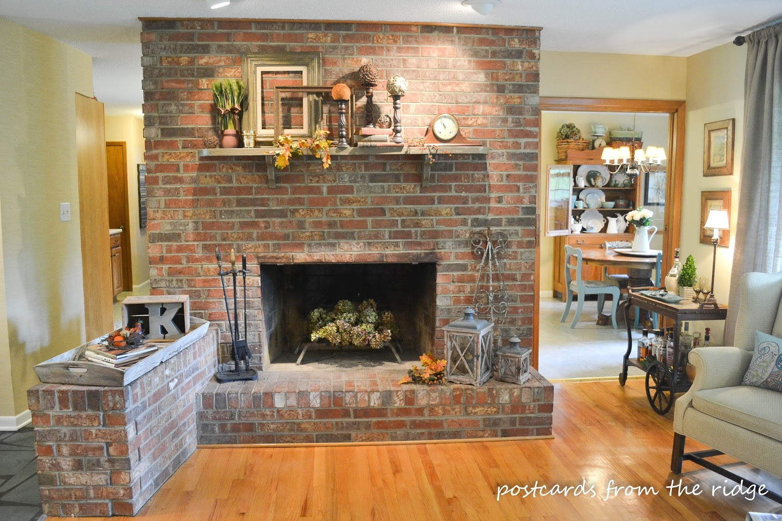 Best Fall Mantel Decor Traditional Version Postcards From This Month