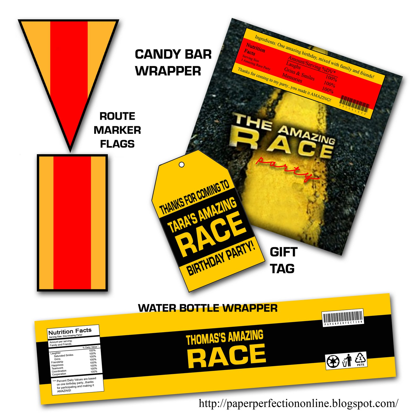 Best Paper Perfection Free Amazing Race Birthday Party This Month