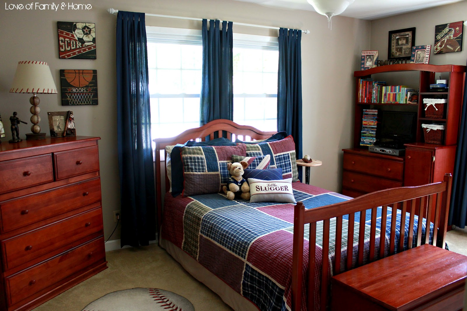 Best Parker S Room Vintage Baseball Boys Bedroom Love This Month