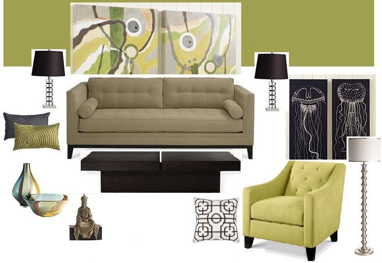 Best Joy Of Decor Room Design Idea Green Walls Taupe Sofa This Month