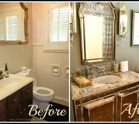 Best Small Bathroom Glam Redo Hometalk This Month