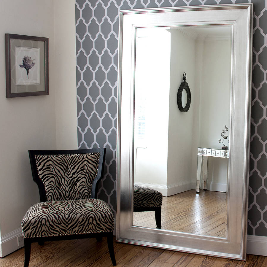 Best Black Silver Wide Framed Mirror By Decorative Mirrors This Month