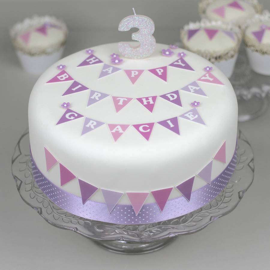 Best Personalised Birthday Cake Decorating Kit With Bunting By This Month