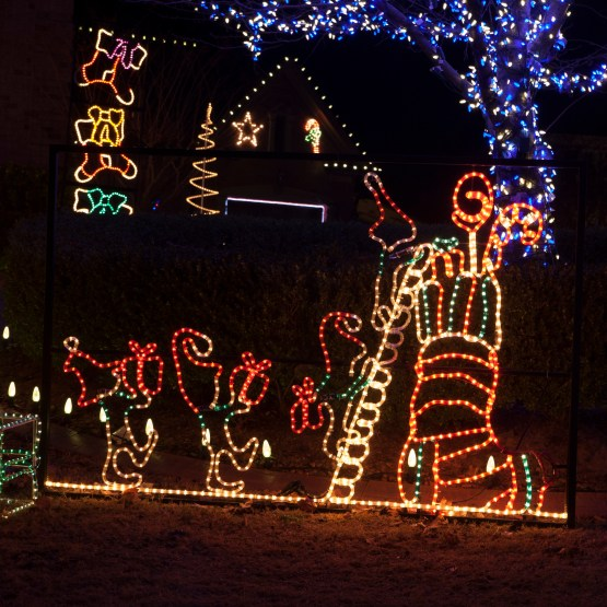 Best Outdoor Decoration Animated Elf And Stocking Outdoor This Month