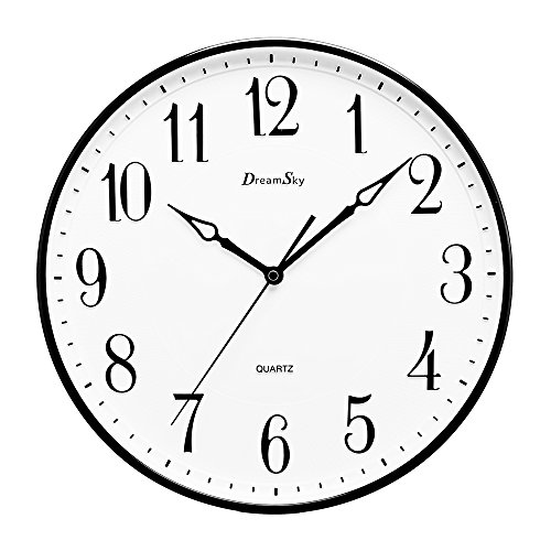Best Dreamsky 13 1 2 Inch Extra Large Wall Clock Non – Ticking This Month