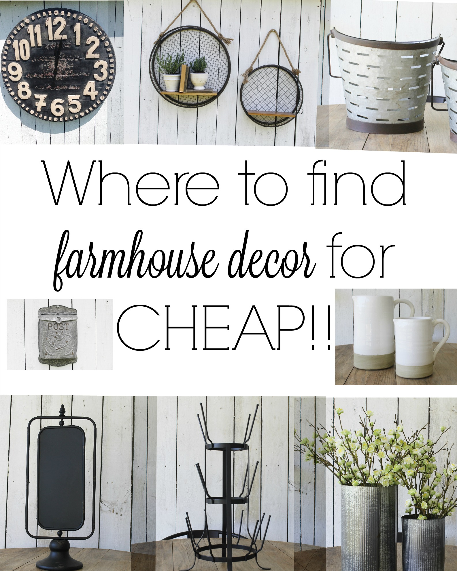 Best Where To Find The Best Farmhouse Style Decor For Cheap This Month