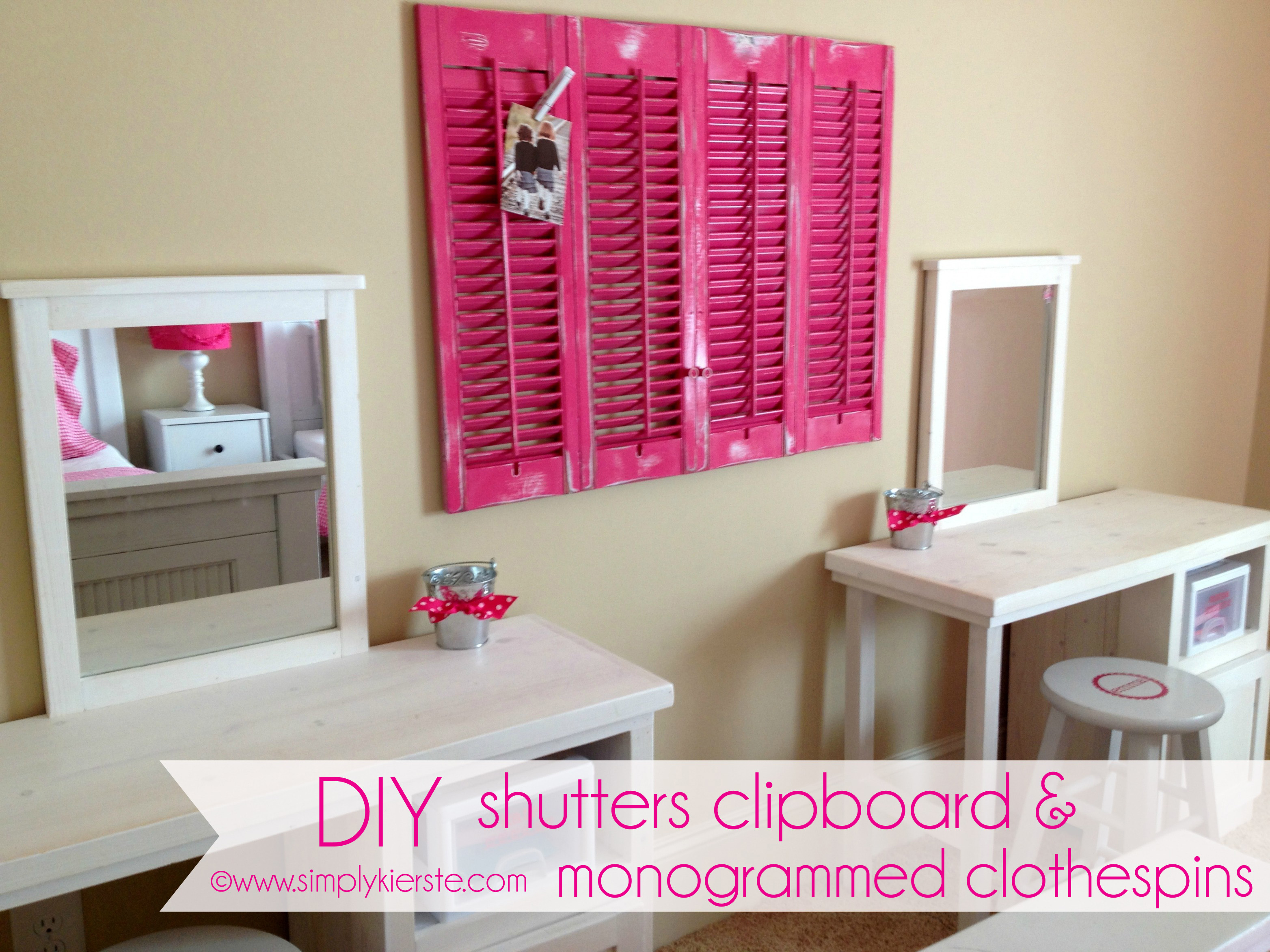 Best Diy Shutters Clipboard Monogrammed Clothespins This Month