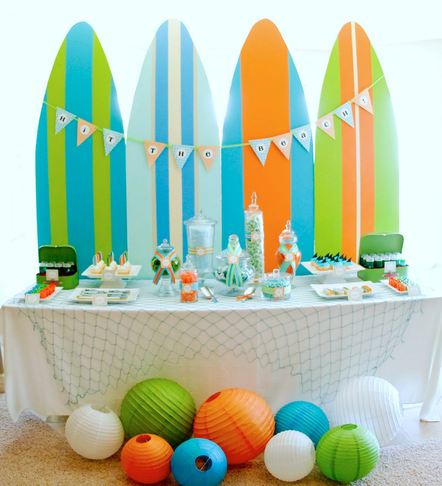 Best Kara S Party Ideas Surf S Up Summer Pool Party Kara S This Month