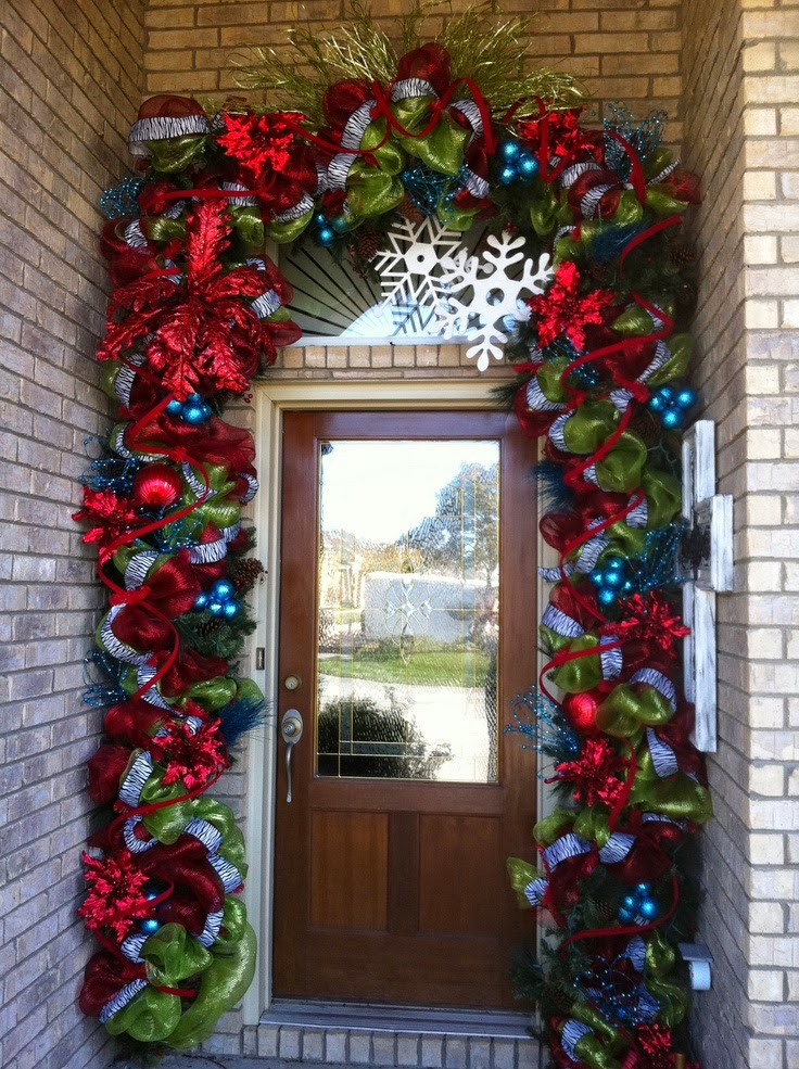 Best Christmas Ideas 2013 Christmas Front Door Entry And Porch This Month