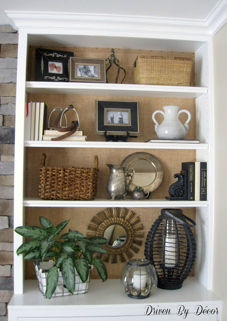Best Diy Project Burlap Backed Bookcases Driven By Decor This Month