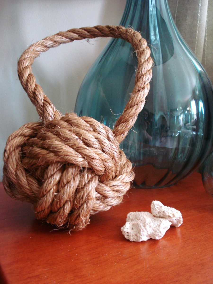 Best Heart Maine Home Rope Knot Bookend Diy This Month