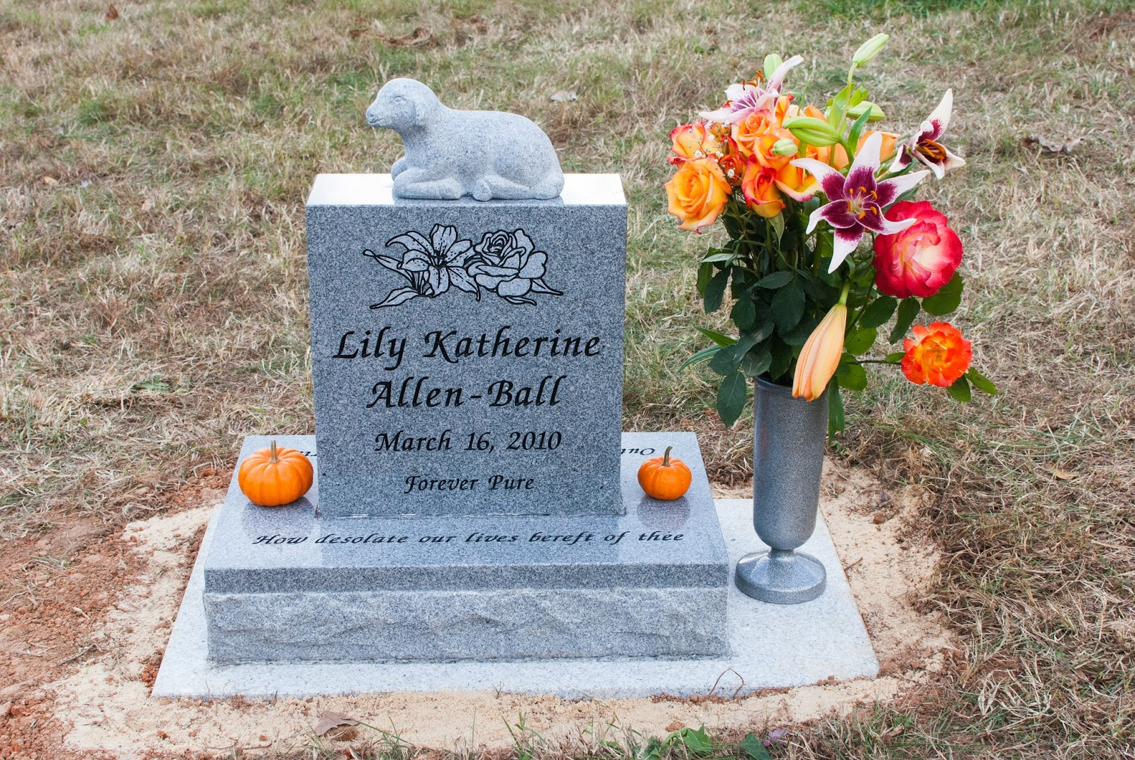Best Rose And Her Lily Designing Your Baby S Headstone Some This Month
