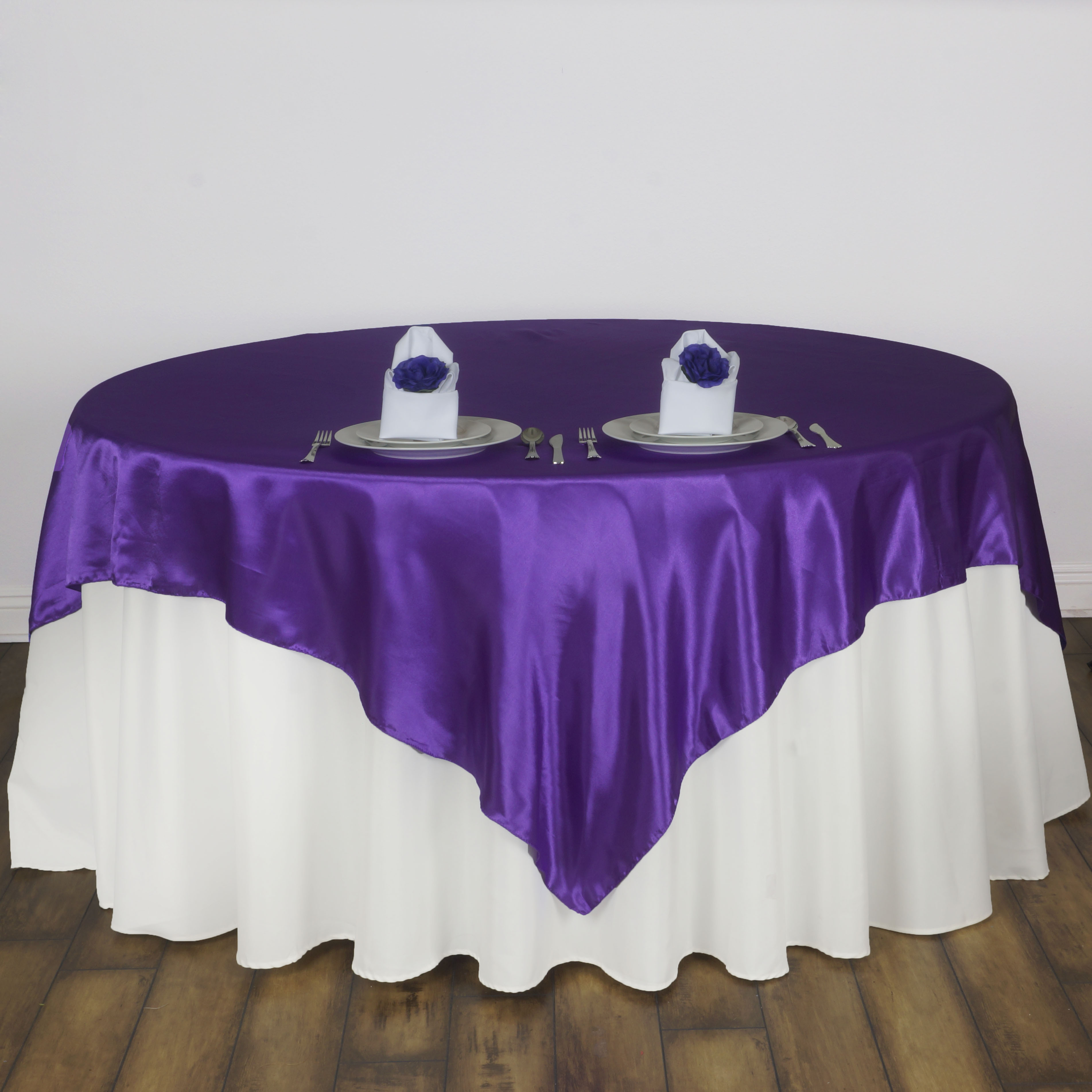 Best 15 Pack 60 Square Satin Table Overlays Toppers Wedding This Month