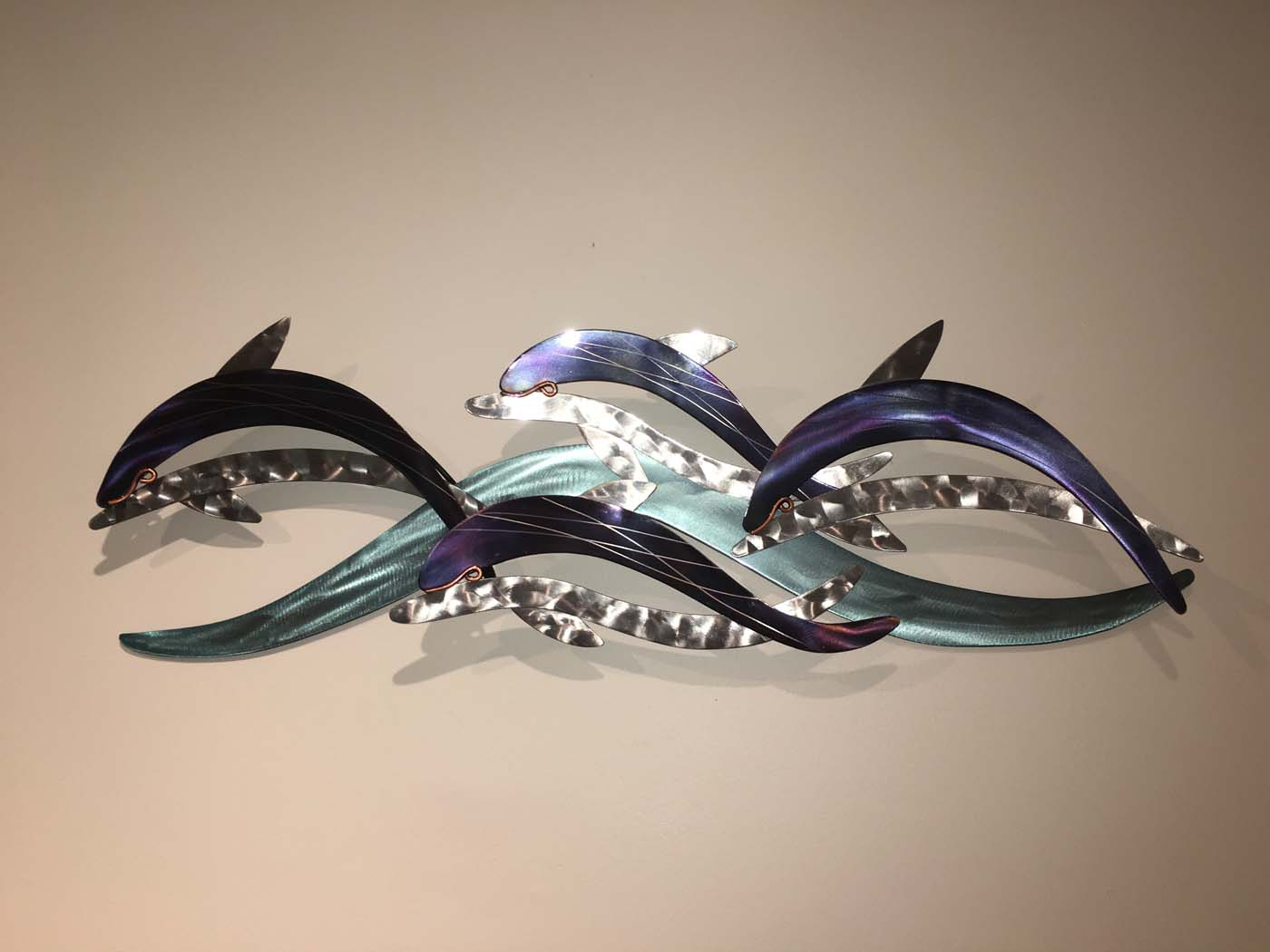 Best Dolphin Wave Metal Wall Sculpture This Month