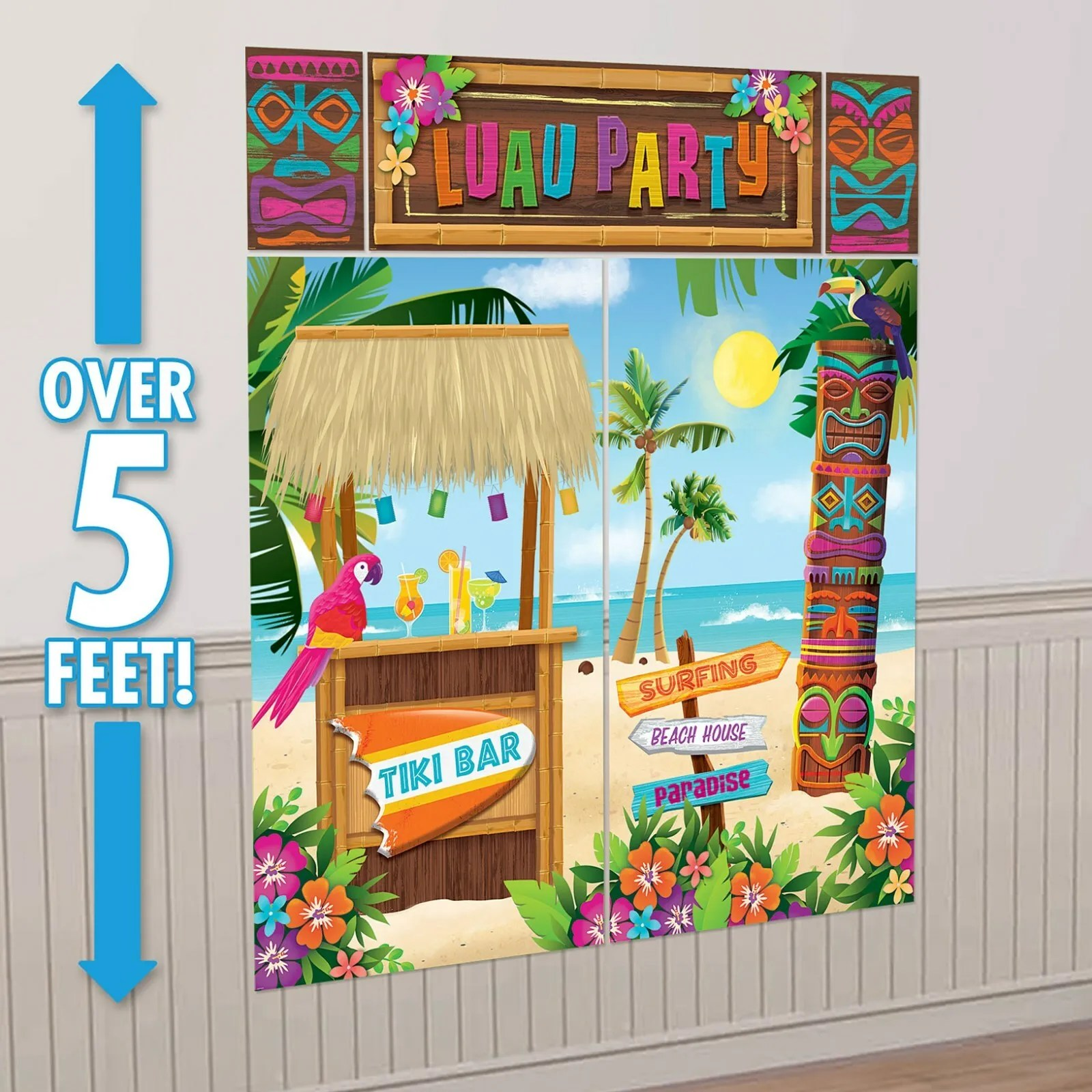 Best Hawaiian Luau Tropical Party Supplies Wall Decorations This Month
