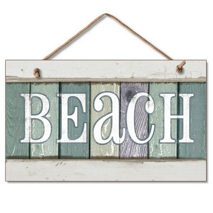 Best Buy Wooden Beach Party Sign 10 Inch Nautical Accessories This Month