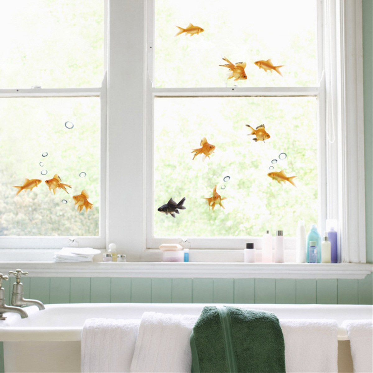 Best Goldfish Window Decals The Green Head This Month
