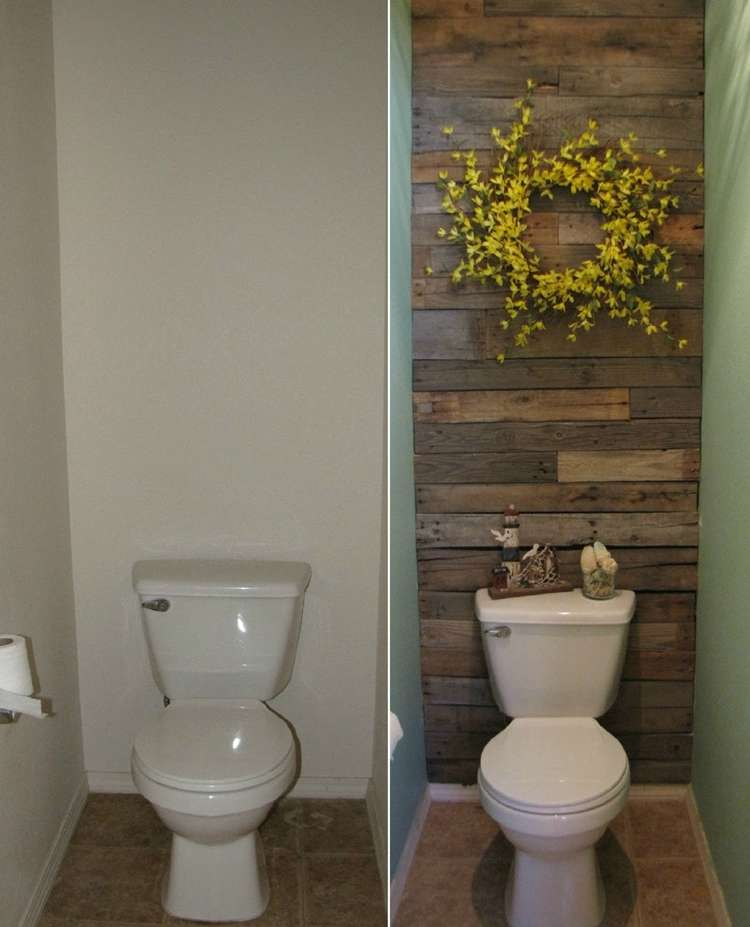 Best This Small Toilet Room Got An Excellent Makeover With Pallets This Month