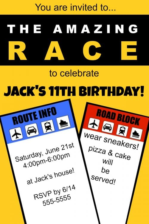Best Great 11 Year Old Party Idea The Amazing Race Birthday This Month