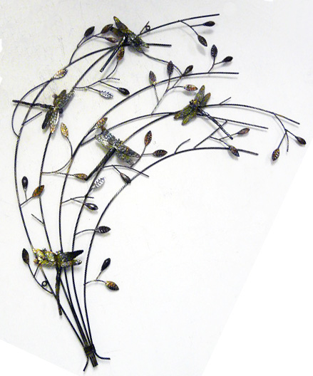 Best New Contemporary Metal Wall Art Decor Or Sculpture Dragonfly Branch Scene Ebay This Month