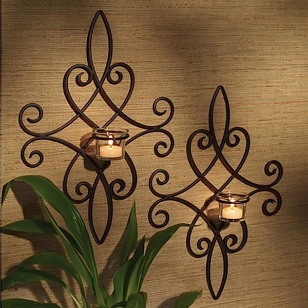 Best 15 Chic Wrought Iron Wall Candle Holders You Will Admire This Month