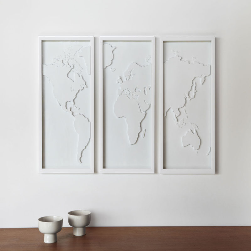 Best 10 World Map Designs To Decorate A Plain Wall Contemporist This Month