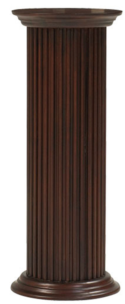 Best Column Round Fluted Wood Pedestal 36 High This Month