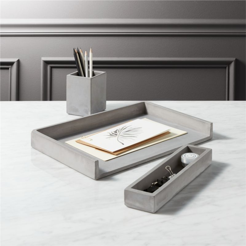 Best Cement Desk Accessories Cb2 This Month