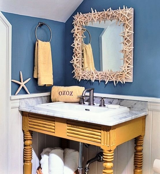 Best Mirror Border 32 Seaworthy Beach Themed Bathrooms You Can… This Month