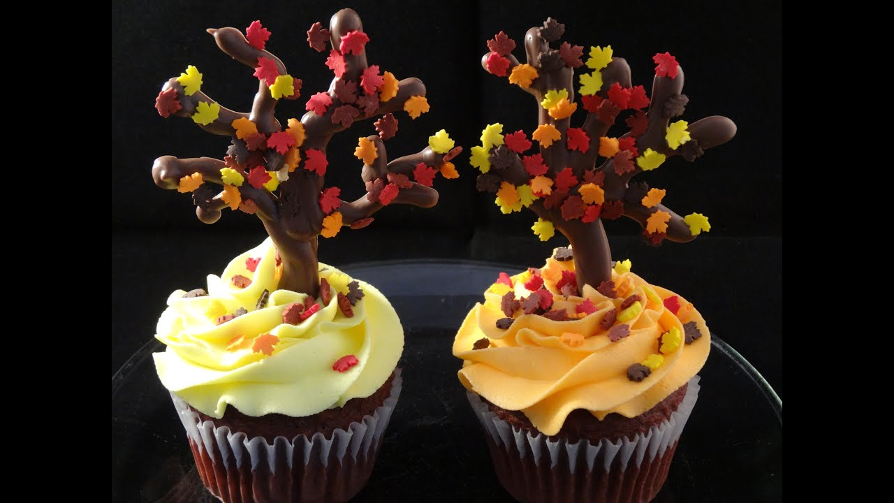 Best Decorating Cupcakes With Yoyomax12 123 Falling Leaves This Month