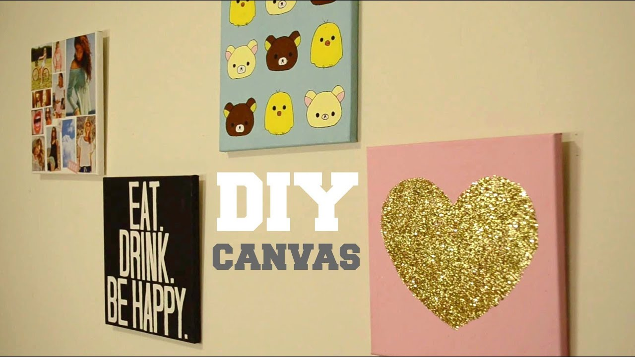Best Diy Wall Decor Custom Canvas Youtube This Month
