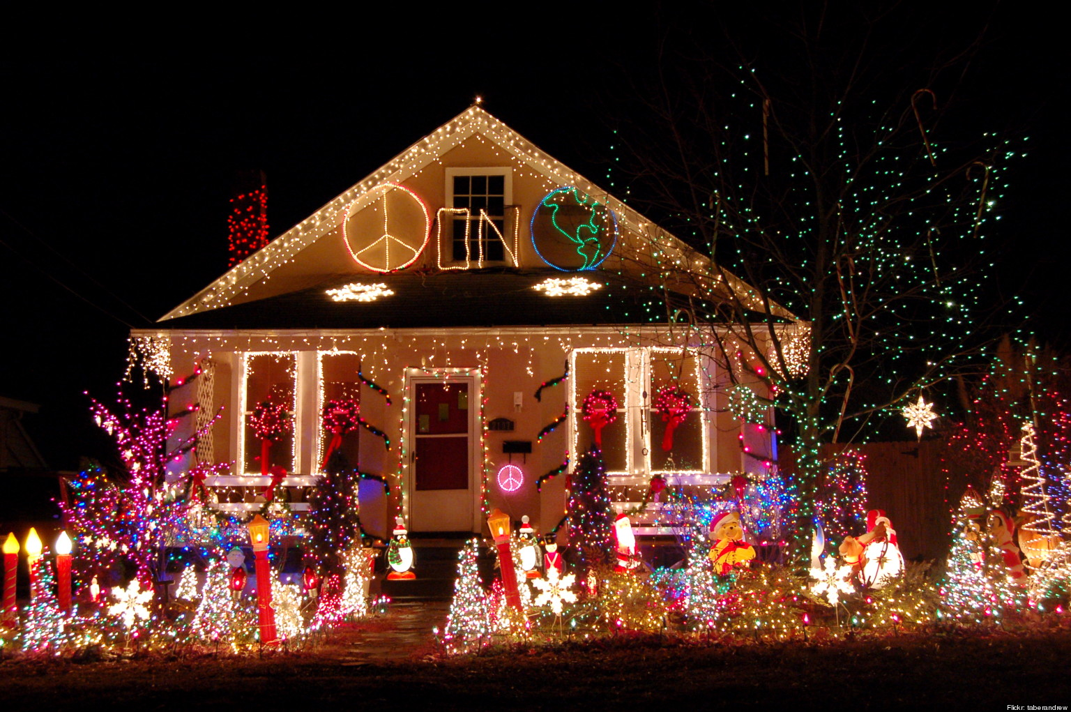 Best Tacky Christmas Lights Displays Photos Videos Huffpost This Month