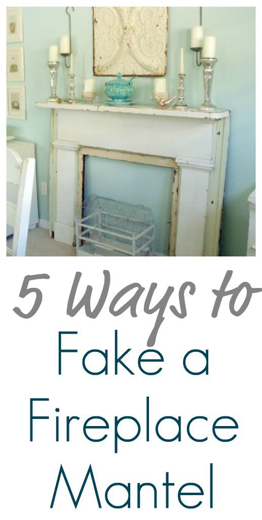 Best 5 Ways To Fake A Fireplace Mantel This Month