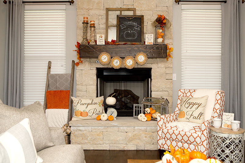 Best Fall Mantel Decorations 3 Ways Hoopla Events Krista O This Month