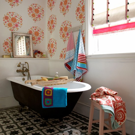 Best Seventies Style Wallpaper Print Bathroom Wallpapers This Month