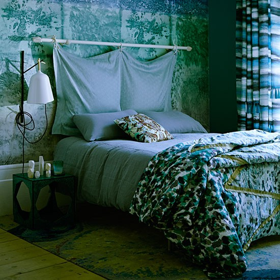 Best Blue And Green Bedroom With Panel Decorating This Month