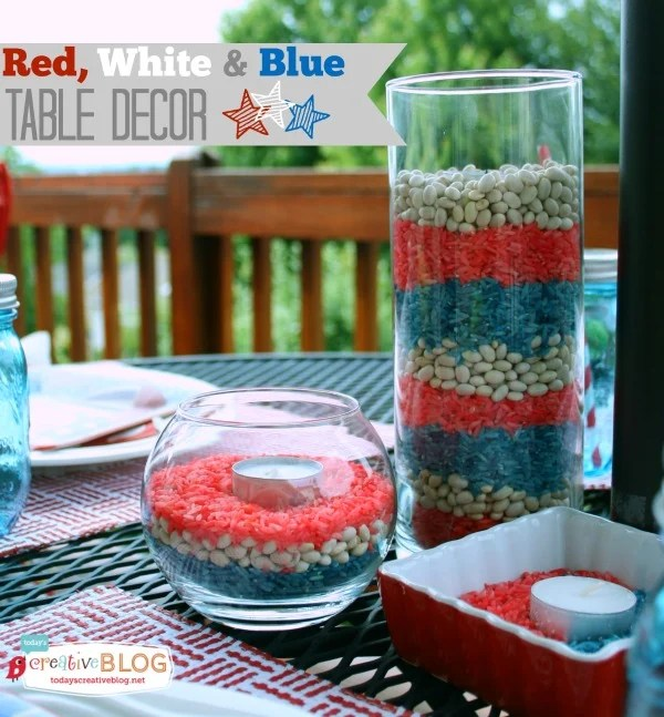 Best Easy Red White Blue Patriotic Decor Today S Creative Life This Month