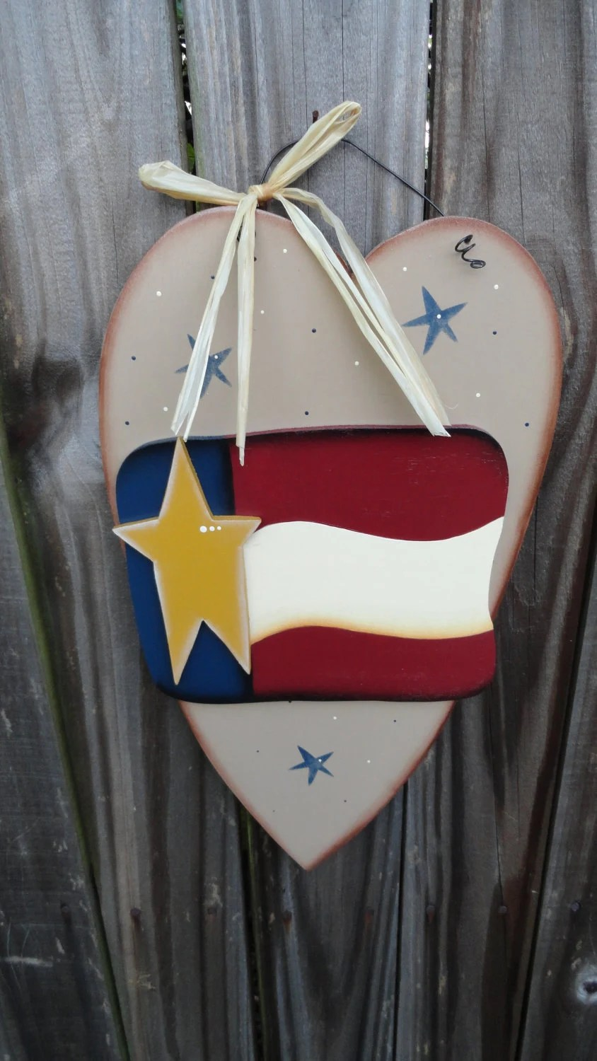Best Items Similar To Primitive Americana Patriotic Heart Wall This Month