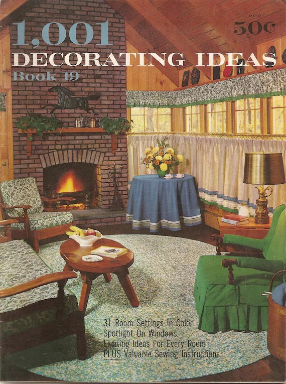 Best 60S Home Decoration Booklet 1963 Vintage Conso S By This Month