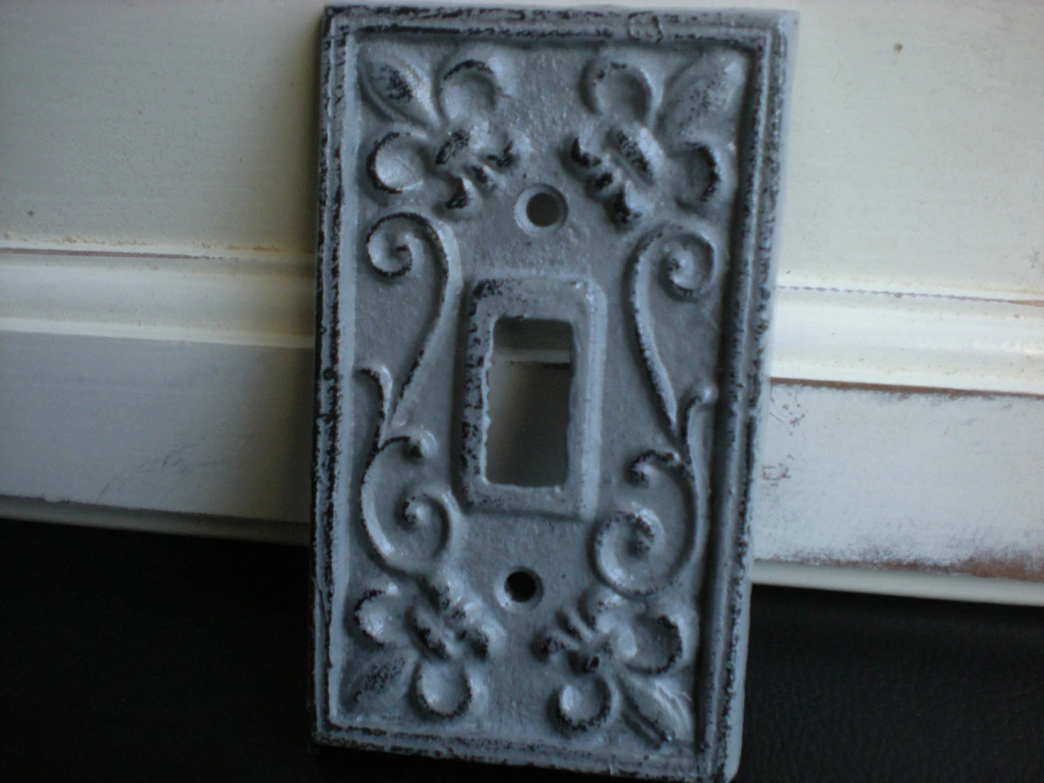 Best Slate Grey Decorative Light Switch Plate Single By This Month