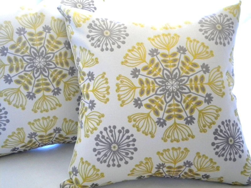 Best Items Similar To Decorative Pillow Cover Yellow Silver This Month