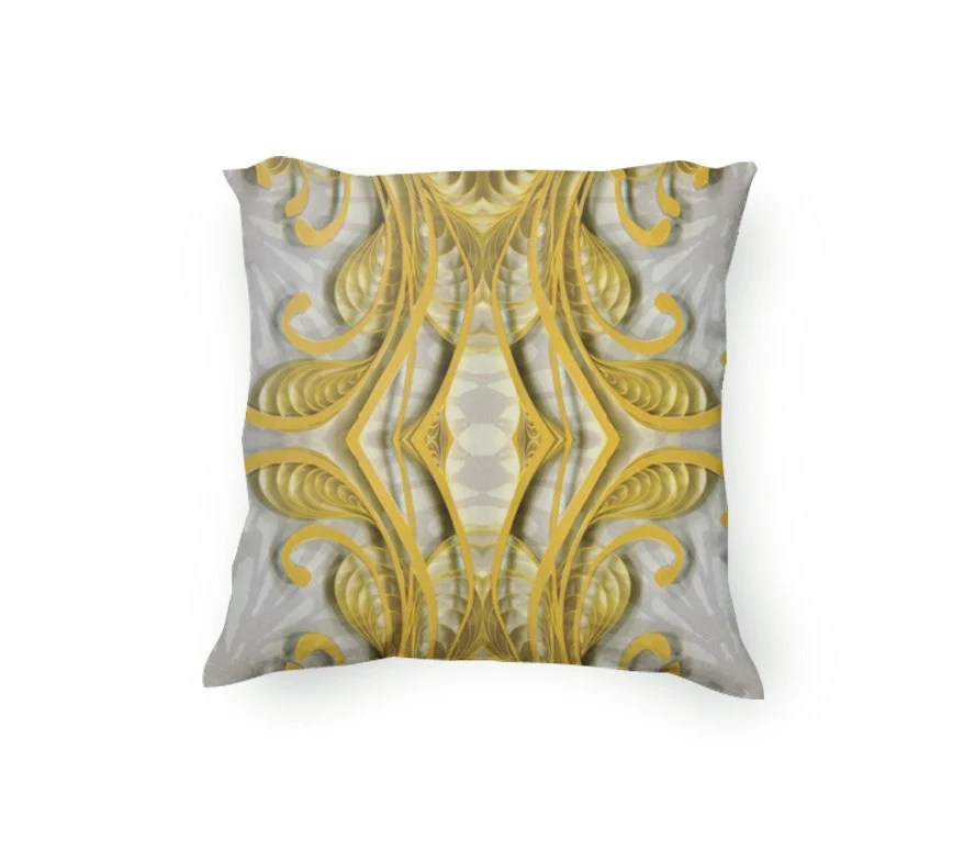 Best Yellow And Gray Decorative Throw Pillow By Yakawonisquilling This Month