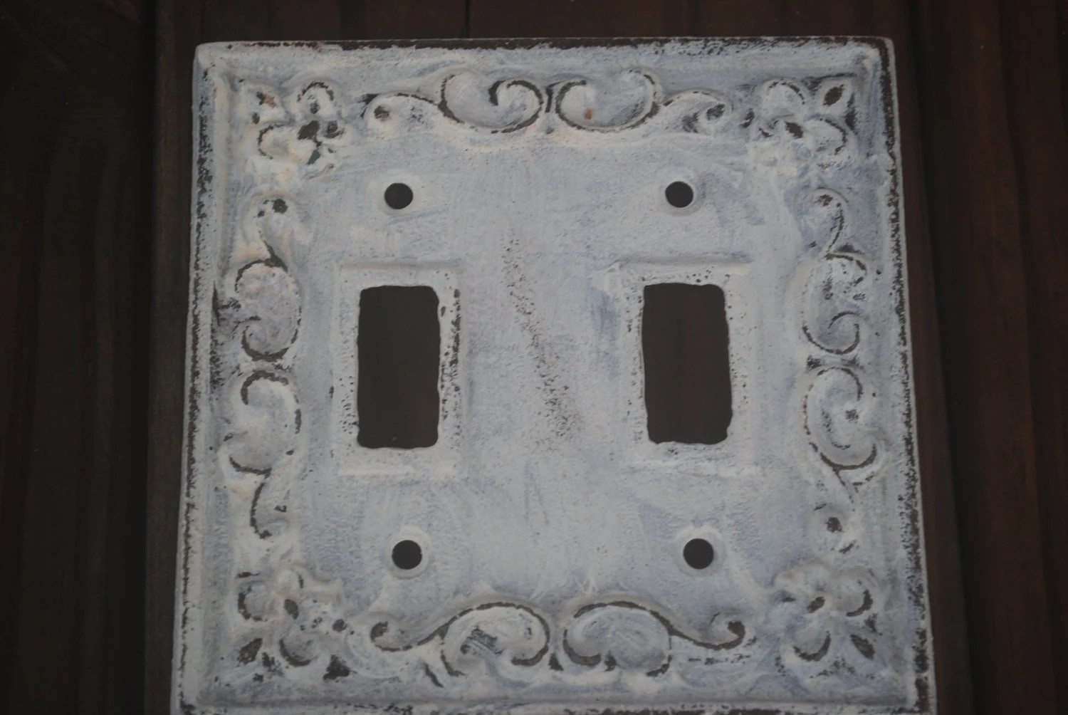 Best White Decorative Light Switch Plate Double By Fromshab2Chic This Month
